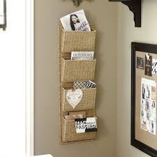 Kitchen Message Board Ideas 4 Pocket Woven Wall Pocket Alternative To Traditional File