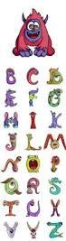 funny cartoon monster font letter and alphabet 25 eps