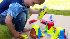 fun painting ideas for kids pour painting flower pot craft diy