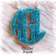 acrylic monogram necklace glitter acrylic monogram necklace monogram circle necklace