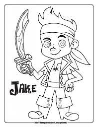 free printable jake neverland pirates cartoon coloring