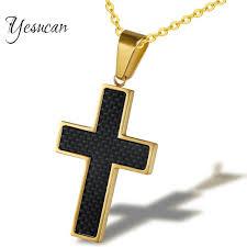 vintage cross necklace images Yesucan male vintage cross pendant necklace statement men jesus jpg