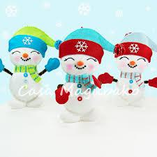 snowman ornament sewing pattern diy stitched ornament pdf