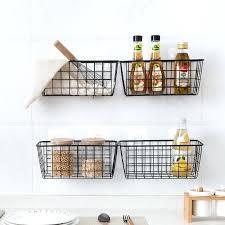 wall hanging baskets for storage kitchen seasoning hanging basket
