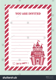 You Are Invited Card Princess Birthday Party Invitation Card Template Stock Vector