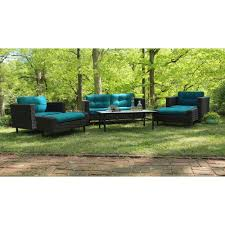 Sunbrella Patio Furniture Covers - ae outdoor hillborough 4 piece all weather wicker patio sectional