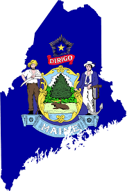 State Of Maine Map by Maine Flag Map U2022 Mapsof Net