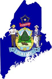Map Of Maine Usa by Maine Flag Map U2022 Mapsof Net