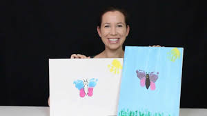how to baby footprint artwork butterfly
