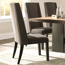 Parson Dining Chair Wing Back Ash Grey Brown Wood Fabric Parsons Dining Chairs Set