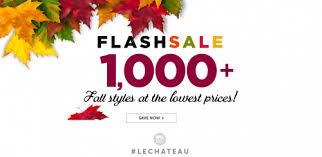 le chateau canada thanksgiving flash sale 1 000 fall styles at