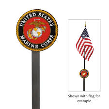 Flag Corps Grave Marker For Marine Corps