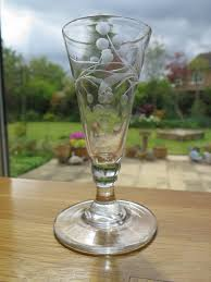 Hand Blown Wine Glasses by Georgian Pair Of Wine Drinking Glasses Handblown And Engraved