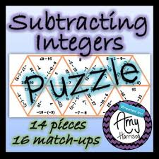 subtracting integers triangle puzzle tpt