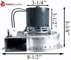 earth pellet stove exhaust combustion blower w housing u0026 gasket