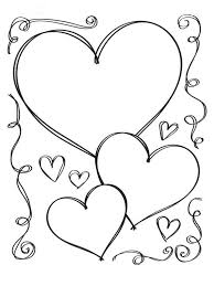 heart coloring pages cute love coloringstar