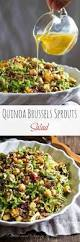 thanksgiving salad warm quinoa brussels sprouts salad sweet u0026 savory by shinee
