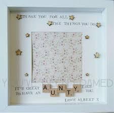 personalised keepsake box frame aunt aunty auntie gift birthday