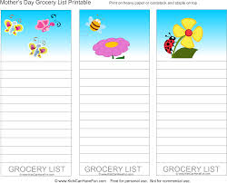 Grocery Shopping List Template Shopping List Template For Kids Training Session Feedback Form