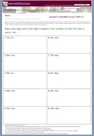 Commoncore Math Worksheets Printables Free Common Math Worksheets For Grade