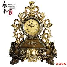porcelain gilt goddess watches clock table clock