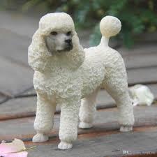 2017 poodle dog figurine resin dog animal statue wedding car