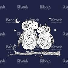 two cute decorative owls stock vector art 508443143 istock