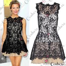 womens floral lace prom cocktail party evening skater tunic ladies