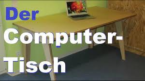 Schmaler Pc Tisch Computertisch U2013 Einfach Selbst Gebaut Youtube