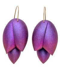 niobium earrings ted muehling purple niobium asparagus earrings earrings jewelry