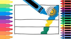 how to draw rwanda flag drawing the rwandan flag coloring
