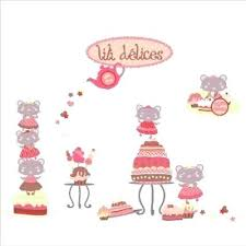 sticker mural chambre fille stickers mural lili pouce chambre enfant et bacbac collection