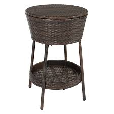 Cooler Patio Table Best Choice Products Wicker Outdoor Patio