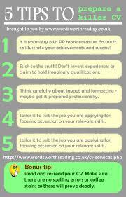 cv tips infographic 5 tips for writing a killer cv for your