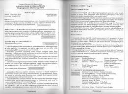 Video Resume Examples by One Page Resume Commercetools Free Cv Resume Templates In Doc