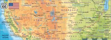 Arizona Road Map Driving Route 66 Through Arizona Road Trip Usa Outstanding Map Of