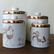 tin kitchen canisters rooster canister set country tin kitchen of 3 canisters nsty