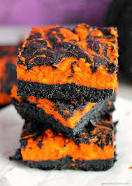 halloween swirl cream cheese brownies persnickety plates
