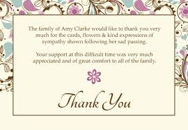 thank you for funeral flowers card templates funeral thank you cards engaging funeral