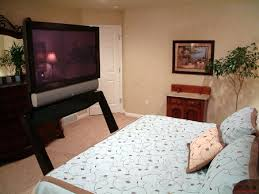 Bed Frame With Tv Built In Feature Company Creates Plasma Tv Lift That Slides Out From