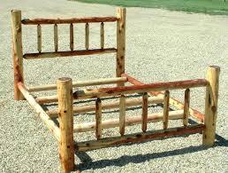 Wood Log Bed Frame Log Bed Frame Bed Frame Katalog 3eed55951cfc