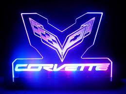 corvette flag racing chevrolet led lamp night light man cave room