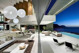 Modern Home Living Room Pictures Modern Private Residence With Dramatic Living Room Overlooking The