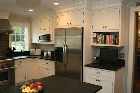 decorating astounding soapstone countertops with refrigerator astounding soapstone countertops with refrigerator built in cabinet and recessed lighting also kitchen island for modern kitchen design ideas