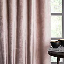 Pink Velvet Curtains Velvet Curtains West Elm