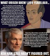 Ham Meme - a meme about origen and ken ham god of evolution