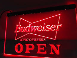 Neon Lights Home Decor Open Budweiser Beer Led Neon Light Sign Home Decor U2013 Come See