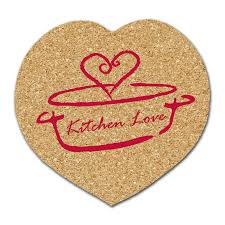 heart shaped items custom heart shaped all cork coasters promotional