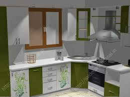 Indian Semi Open Kitchen Designs Flower Design Modular Kitchen