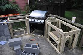 Outside Kitchen Design by How To Build Outdoor Kitchen With Cinder Blocks Home Decorating